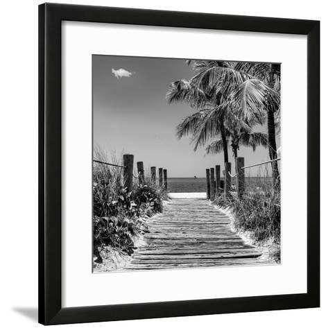 Boardwalk on the Beach - Key West - Florida-Philippe Hugonnard-Framed Art Print