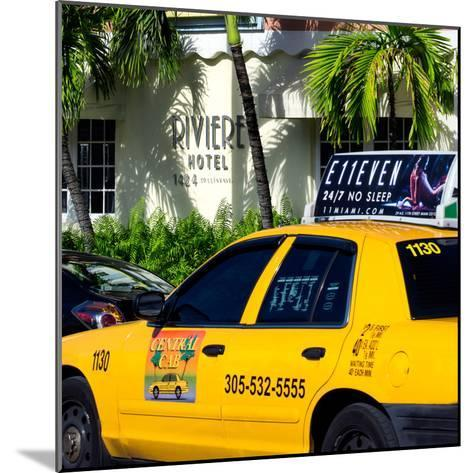 Yellow Cab of Miami Beach - Florida-Philippe Hugonnard-Mounted Photographic Print