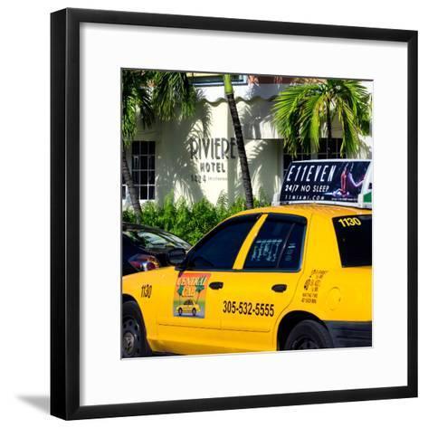 Yellow Cab of Miami Beach - Florida-Philippe Hugonnard-Framed Art Print