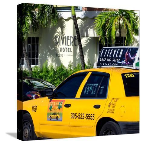 Yellow Cab of Miami Beach - Florida-Philippe Hugonnard-Stretched Canvas Print