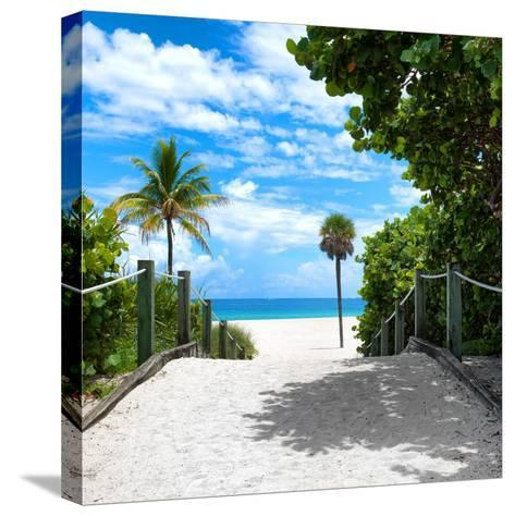 Boardwalk on the Beach - Miami - Florida - United States-Philippe Hugonnard-Stretched Canvas Print