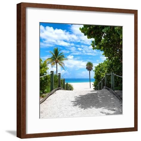 Boardwalk on the Beach - Miami - Florida - United States-Philippe Hugonnard-Framed Art Print