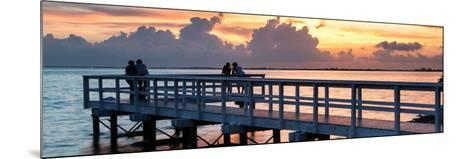 The Pier at Sunset Lovers-Philippe Hugonnard-Mounted Photographic Print