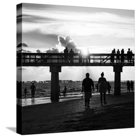 End of Beach Day-Philippe Hugonnard-Stretched Canvas Print
