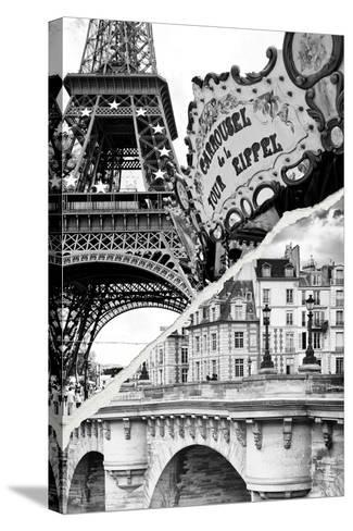 Dual Torn Posters Series - Paris - France-Philippe Hugonnard-Stretched Canvas Print