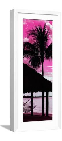 The Hammock and Palm Tree at Sunset - Beach Hut - Florida-Philippe Hugonnard-Framed Art Print