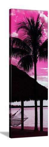 The Hammock and Palm Tree at Sunset - Beach Hut - Florida-Philippe Hugonnard-Stretched Canvas Print