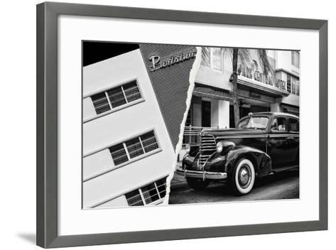 Dual Torn Posters Series - Miami-Philippe Hugonnard-Framed Art Print