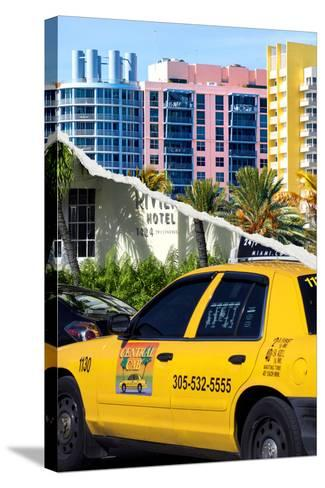 Dual Torn Posters Series - Miami-Philippe Hugonnard-Stretched Canvas Print