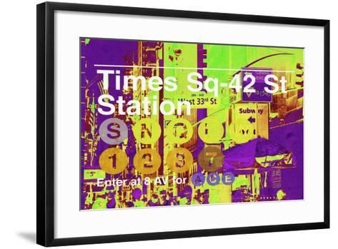 Subway and City Art - Times Square - 42 Street Station-Philippe Hugonnard-Framed Art Print