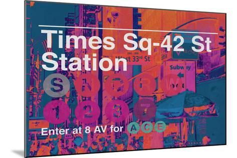 Subway and City Art - Times Square - 42 Street Station-Philippe Hugonnard-Mounted Photographic Print