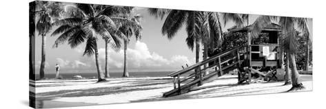Life Guard Station - Miami Beach - Florida-Philippe Hugonnard-Stretched Canvas Print