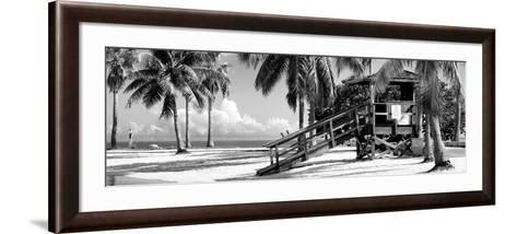 Life Guard Station - Miami Beach - Florida-Philippe Hugonnard-Framed Art Print