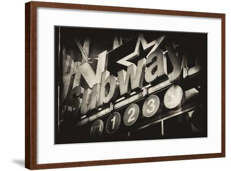 Subway and City Art - Subway Sign-Philippe Hugonnard-Framed Art Print