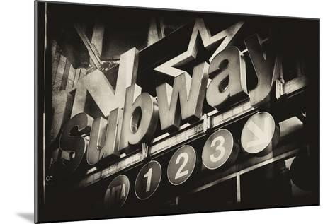 Subway and City Art - Subway Sign-Philippe Hugonnard-Mounted Photographic Print