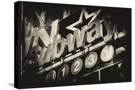Subway and City Art - Subway Sign-Philippe Hugonnard-Stretched Canvas Print