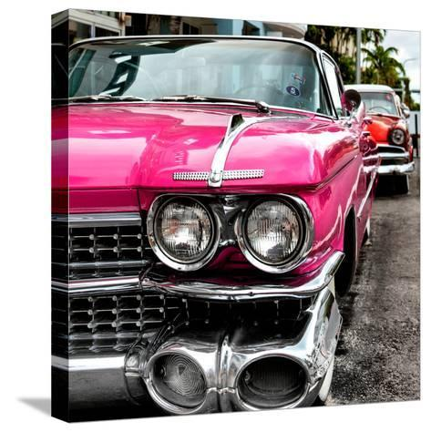 Classic Cars of Miami Beach-Philippe Hugonnard-Stretched Canvas Print