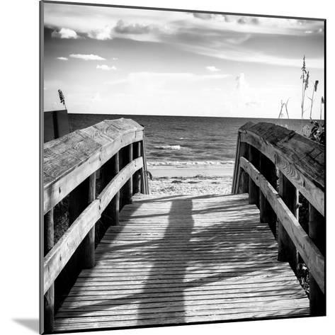 Boardwalk on the Beach at Sunset-Philippe Hugonnard-Mounted Photographic Print