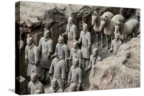 China 10MKm2 Collection - Terracotta Warriors and Horses-Philippe Hugonnard-Stretched Canvas Print