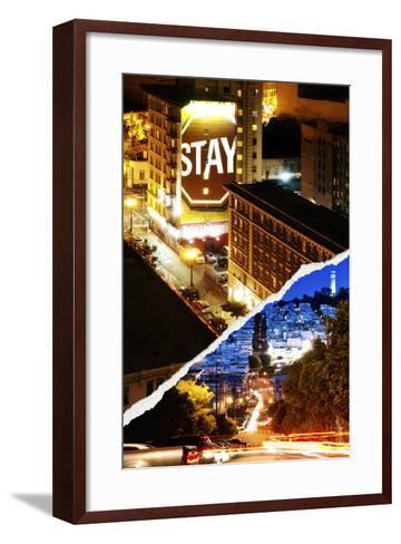 Dual Torn Posters Series - San Francisco-Philippe Hugonnard-Framed Art Print