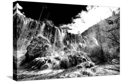 China 10MKm2 Collection - Waterfalls in the Jiuzhaigou National Park-Philippe Hugonnard-Stretched Canvas Print
