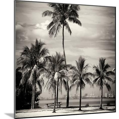 Paradisiacal Beach overlooking Downtown Miami - Florida-Philippe Hugonnard-Mounted Photographic Print