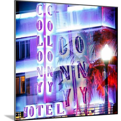 Instants of Series - Ocean Drive with the Colony Hotel by Night - Miami Beach - Florida - USA-Philippe Hugonnard-Mounted Photographic Print