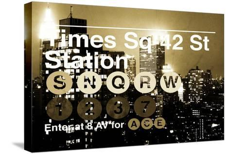 Subway and City Art - Times Square - 42 Street Station-Philippe Hugonnard-Stretched Canvas Print