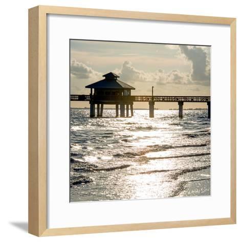 Fishing Pier Fort Myers Beach at Sunset - Florida-Philippe Hugonnard-Framed Art Print