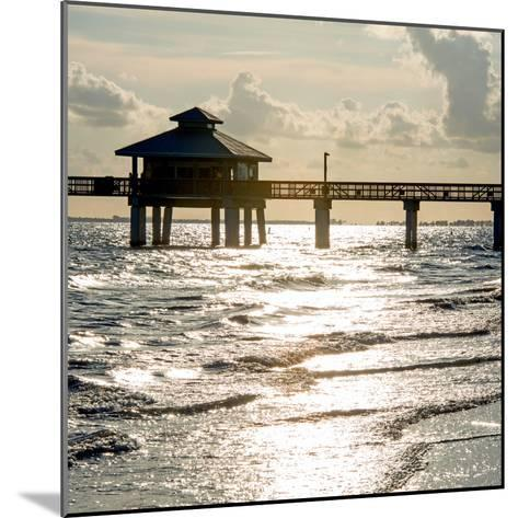Fishing Pier Fort Myers Beach at Sunset - Florida-Philippe Hugonnard-Mounted Photographic Print