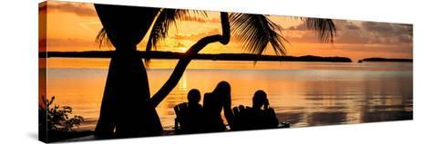 Family Silhouette at Sunset - Florida-Philippe Hugonnard-Stretched Canvas Print