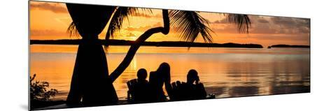 Family Silhouette at Sunset - Florida-Philippe Hugonnard-Mounted Photographic Print