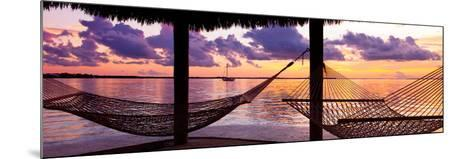Two Hammocks at Sunset - View of Gulf of Mexico - Florida - USA-Philippe Hugonnard-Mounted Photographic Print