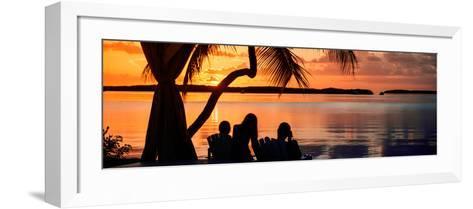 Family Silhouette at Sunset - Florida-Philippe Hugonnard-Framed Art Print