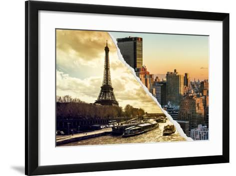 Dual Torn Posters Series - Paris - New York-Philippe Hugonnard-Framed Art Print