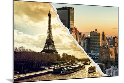 Dual Torn Posters Series - Paris - New York-Philippe Hugonnard-Mounted Photographic Print