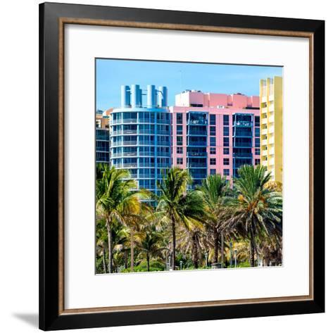 Art Deco Colors Architecture of Miami Beach - South Beach - Florida-Philippe Hugonnard-Framed Art Print