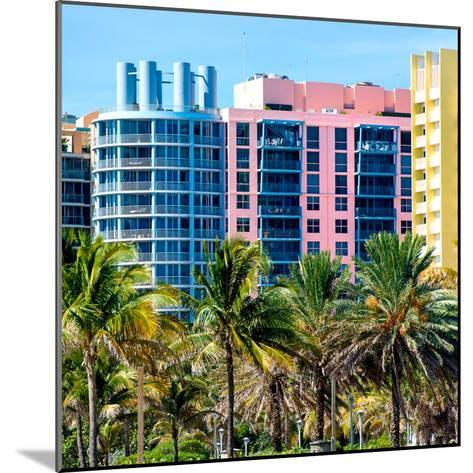 Art Deco Colors Architecture of Miami Beach - South Beach - Florida-Philippe Hugonnard-Mounted Photographic Print