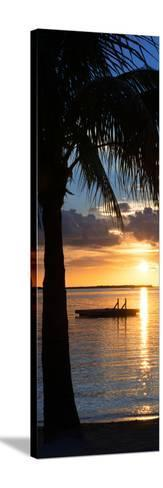 Sunset Landscape with Floating Platform - Miami - Florida-Philippe Hugonnard-Stretched Canvas Print