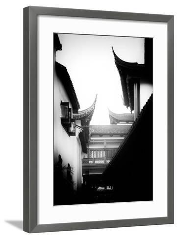 China 10MKm2 Collection - Traditional Architecture in Yuyuan Garden - Shanghai-Philippe Hugonnard-Framed Art Print