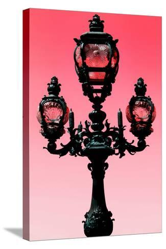 Paris Focus - Colors French Lamppost-Philippe Hugonnard-Stretched Canvas Print