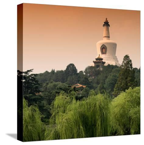 China 10MKm2 Collection - White Pagoda at Sunset - Beihai Park - Beijing-Philippe Hugonnard-Stretched Canvas Print