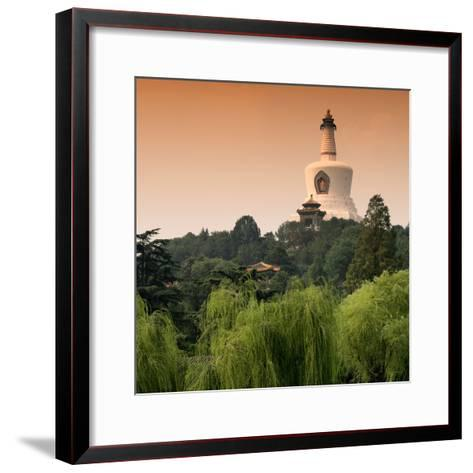China 10MKm2 Collection - White Pagoda at Sunset - Beihai Park - Beijing-Philippe Hugonnard-Framed Art Print
