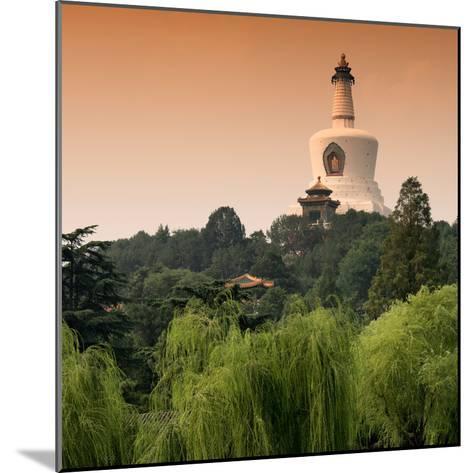 China 10MKm2 Collection - White Pagoda at Sunset - Beihai Park - Beijing-Philippe Hugonnard-Mounted Photographic Print