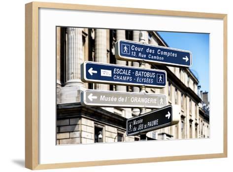 Paris Focus - Direction Signs-Philippe Hugonnard-Framed Art Print