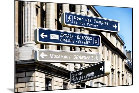 Paris Focus - Direction Signs-Philippe Hugonnard-Mounted Photographic Print