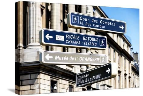 Paris Focus - Direction Signs-Philippe Hugonnard-Stretched Canvas Print