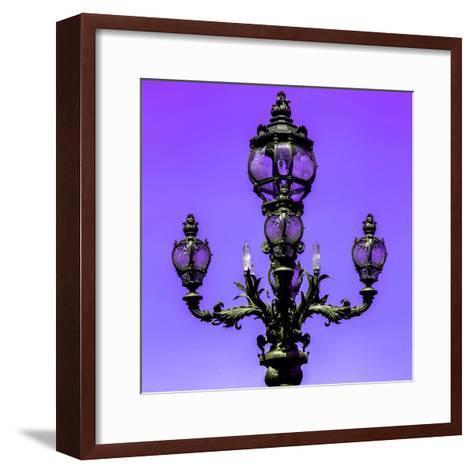 Paris Focus - Colors French Lamppost-Philippe Hugonnard-Framed Art Print
