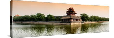China 10MKm2 Collection - Watchtower - Forbidden City - Beijing-Philippe Hugonnard-Stretched Canvas Print