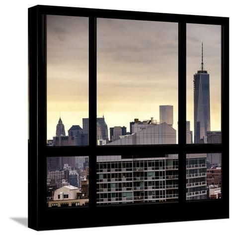View from the Window - One World Trade Center-Philippe Hugonnard-Stretched Canvas Print